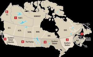 canada, regions, old farmer's almanac,