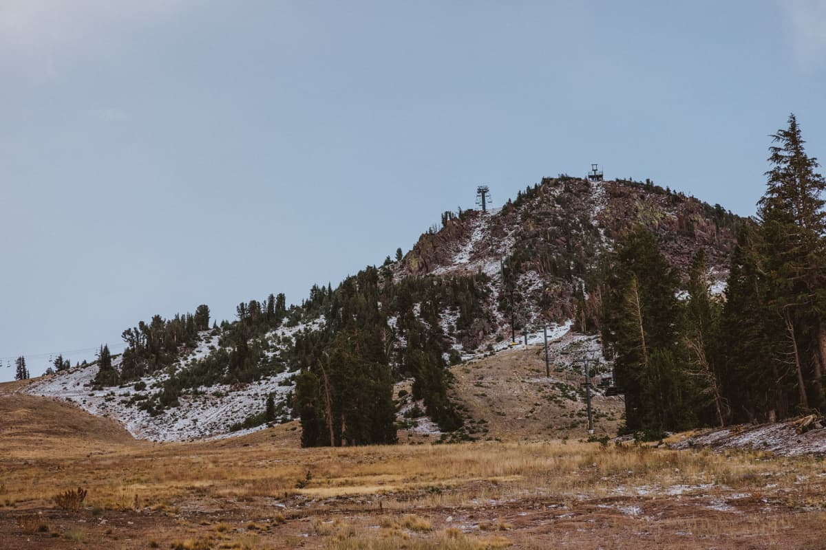 mammoth mountain, first snow,