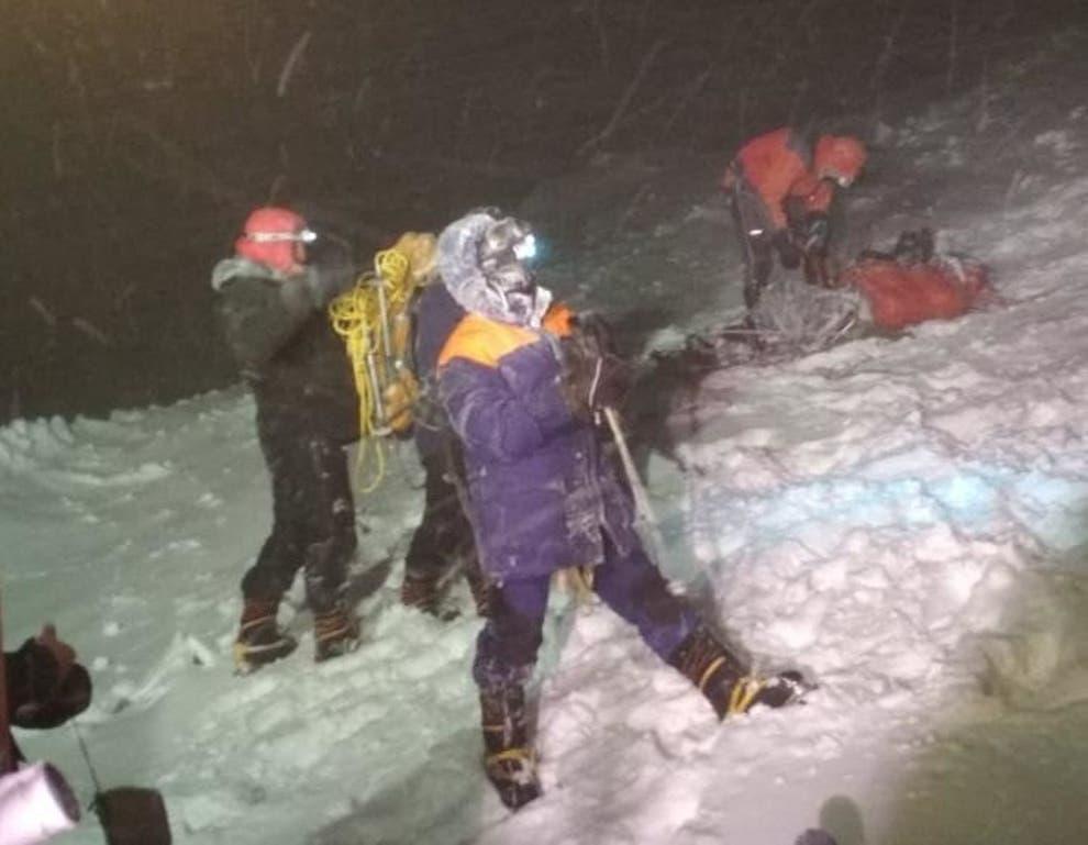 Mount Elbrus, russia, rescuers