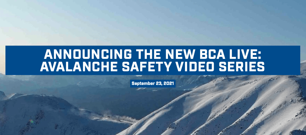 BCA, avalanche live series, video,