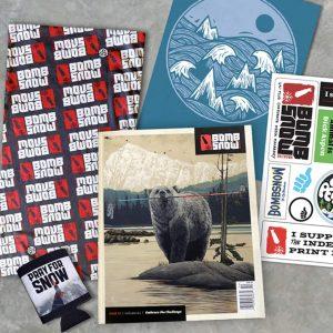 bomb snow, magazine,