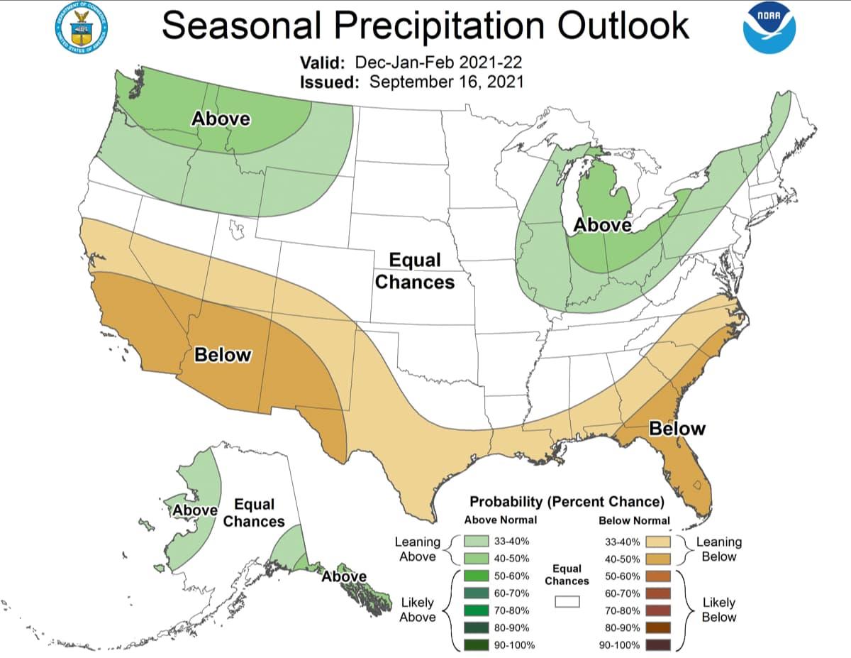 outlook, precipitation, NOAA,