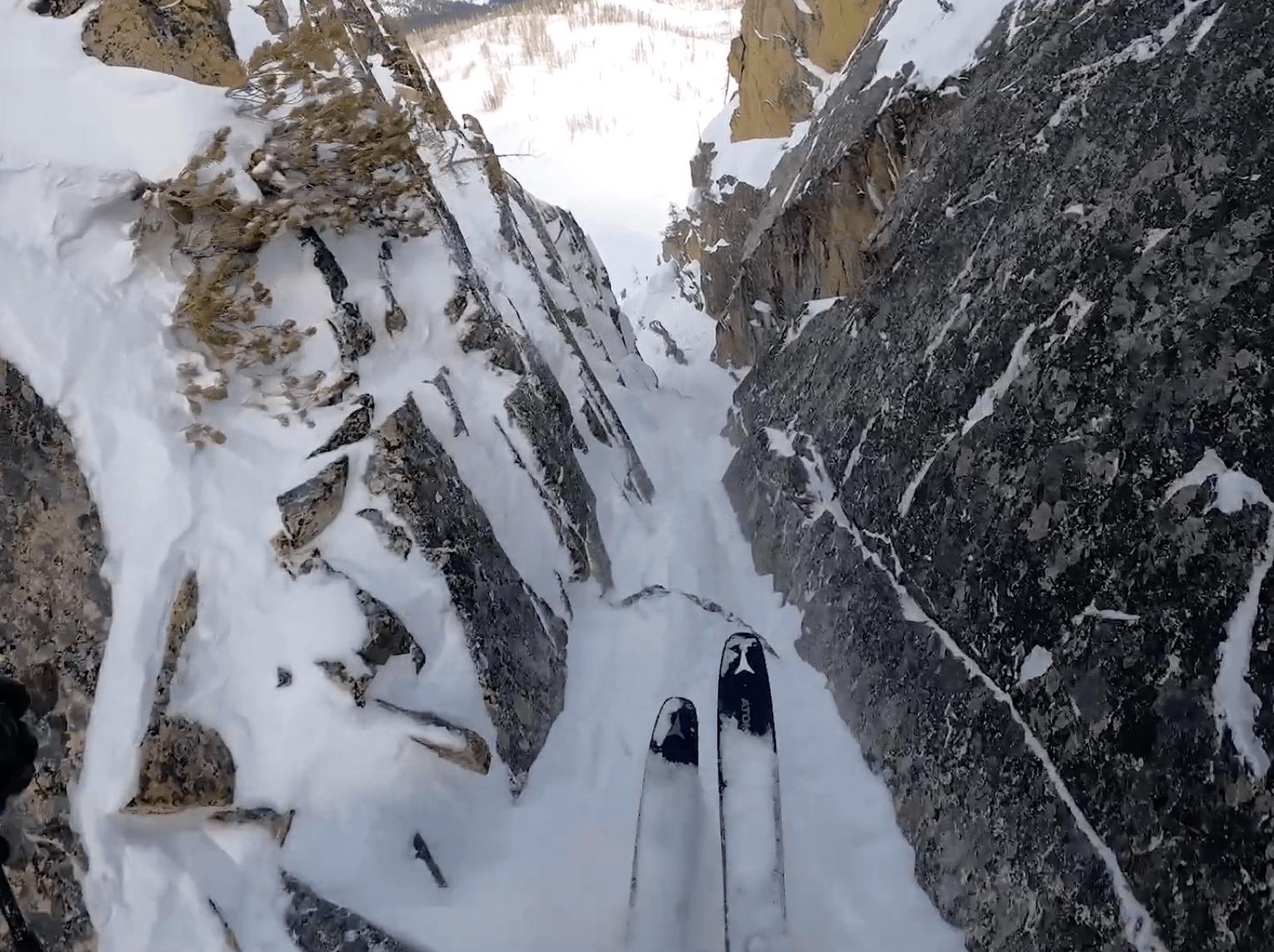 narrow chute