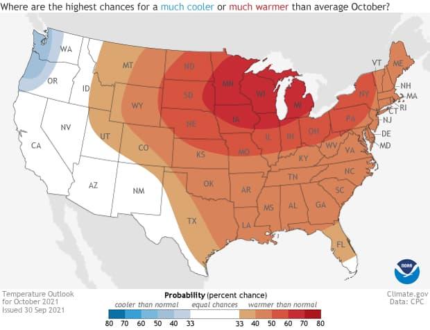 October, outlook, temperature,